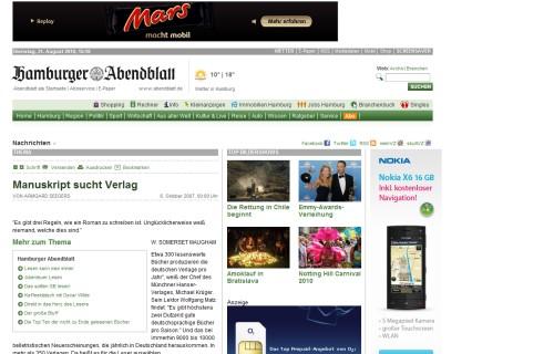 Manuskript sucht Verlag