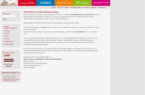 Buchverlage LangenMüller Herbig nymphenburger