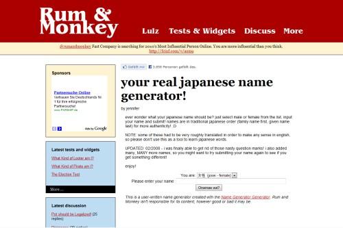 Japanischer Name Generator