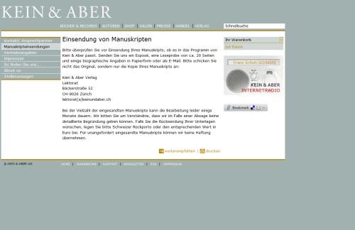 Kein & Aber Verlag