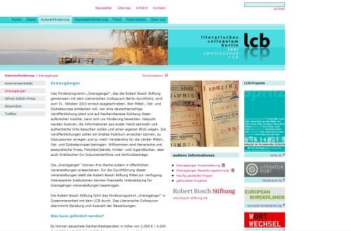 lcb - Literarisches Colloquium Berlin