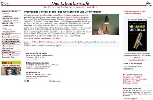 Das Literatur Café