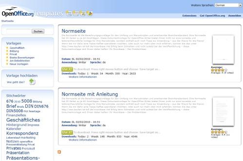 OpenOffice Manuskript Templates